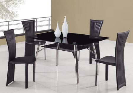 Global Furniture USA A091DT1513DC5pcBL Global Furniture USA