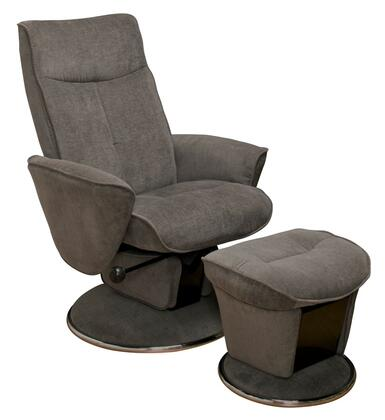 Mac Motion SELBY-01X-UPH Fabric Swivel, Glider, Recliner with Ottoman