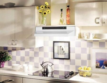 "Broan 46000 Series 4624X 24"" Under Cabinet Range Hood with 220 CFM Internal Blower and Two-Level Light Control in"