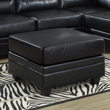Monarch I 8300 Ottoman, with Cushioning and Bonded Leather Upholstery