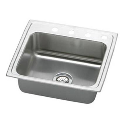 "Elkay LR22190 22"" Top Mount Self-Rim Single Bowl 18-Gauge Stainless Steel Sink"