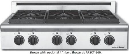 American Range ARSCT366ISN Legend Series Other Sealed Burner Style Cooktop, in Natural Gas