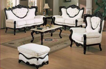 J. Horn 702WHITES3SET Living Room Sets
