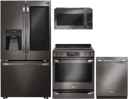 LG Studio 710668 Black Stainless Steel Kitchen Appliance Pac
