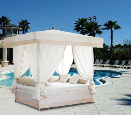"""Vifah V1380 104"""" Canopy Outdoor Bed"""
