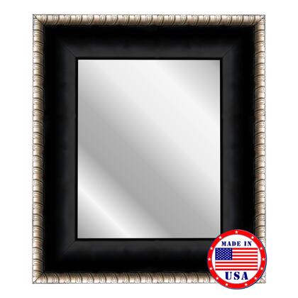 Hitchcock Butterfield 68760X Reflections Satin Midnight Ebony Silver Scrolls Wall Mirror