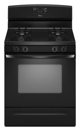 "Amana AGR5844VD 30"" Freestanding Gas Range with 4 Sealed Burners, 5.0 cu. ft. Self-Clean, Storage Drawer, Stamped Steel Burner Grates, Electronic Ignition, and Extra-Large Oven Window"