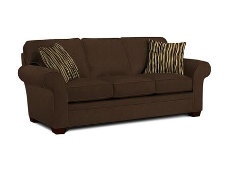 "Broyhill Zachary Collection 7902-3QX 89"" Sofa with Fabric Upholstery, Rolled Arms, Piped Stitching and Casual Style in"
