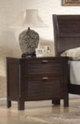 Yuan Tai AM7903N Amherst Series Rectangular Wood Night Stand