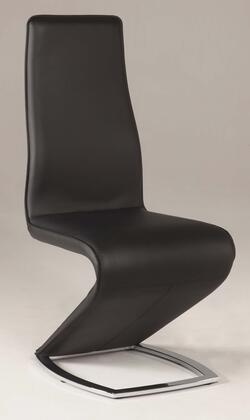 Chintaly Tara TARASC Stationary Side Chair with Chrome Legs and High Upholstery Back Slightly Curved Sides in