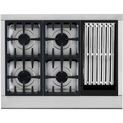 DCS CPU364GLL Professional Series Gas Sealed Burner Style Cooktop