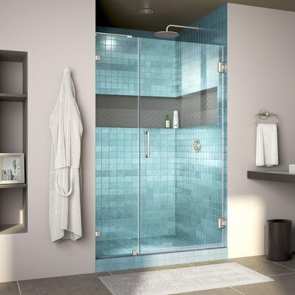 DreamLine Unidoor Lux Shower Door RS30 30D 14IP 04 Blue Tile