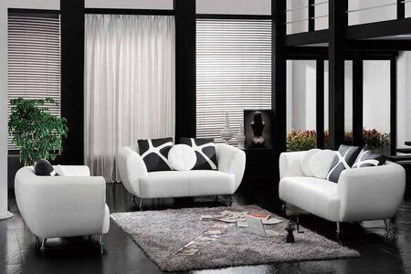 VIG Furniture VGDM2946BL Modern Bonded Leather Living Room Set