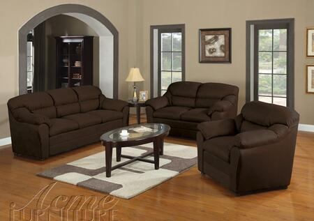 Acme Furniture 50177 Connell Series Fabric Chair in Chocolate
