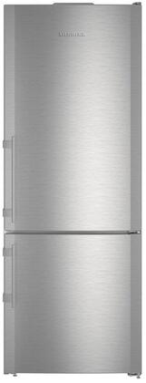 """Liebherr CBS166 30"""" Energy Star Rated Freestanding Bottom Freezer Refrigerator with 14.9 cu. ft. Total Capacity, BioFresh, and 3 Glass Refrigerator Shelves, in Stainless Steel"""
