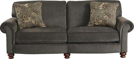 """Jackson Furniture Downing Collection 4384-03- 92"""" Sofa with Rolled Arms, Turned Bun Feet and Reversible Seat Cushions in"""