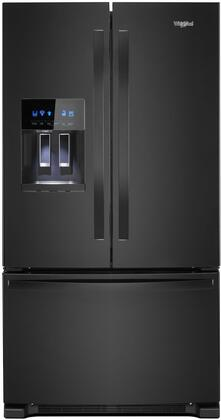 "Whirlpool WRF555SD 36"" French Door Refrigerator with 25 cu. ft. Capacity, External Water and Ice Dispenser, Spillproof Shelves, Two-Tier Freezer Storage and Tap Touch Controls in"