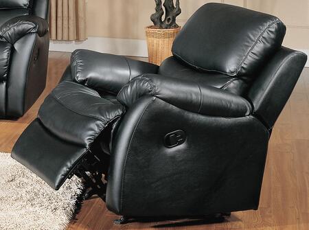 Yuan Tai BR8852CBK Brett Series  Leather Rocking Chair