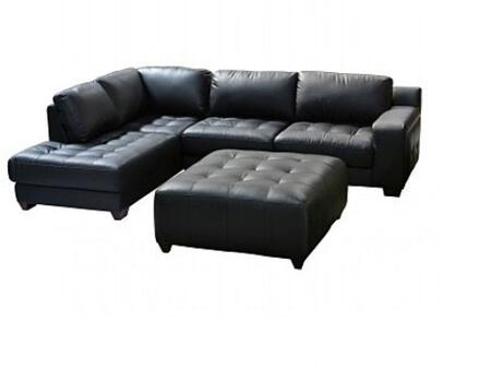 Diamond Sofa LAREDOLF2PCSECTOTTOB Contemporary Bonded Leather Living Room Set