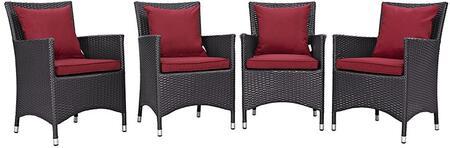 Modway EEI2190EXPREDSET Convene Series  Aluminum Frame  Patio Arm Chair