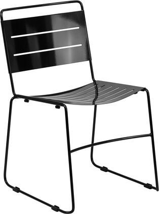 Flash Furniture HA1BKGG Hercules Series  Metal Frame  Patio Side Chair