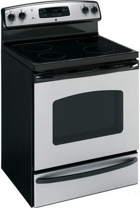 GE JBS55MMBS CleanDesign Series Electric Freestanding Range with Smoothtop Cooktop, 5.3 cu. ft. Primary Oven Capacity, Storage in Stainless Steel