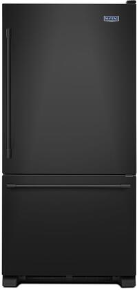 "Maytag MBF2258FE 33"" Bottom Mount Freezer Refrigerator with 22.07 cu. ft. Total Capacity, 2 Half Width Shelves, Humidity-Controlled FreshLock Crispers, Deli Drawer, Freezer Baskets, and LED Light"