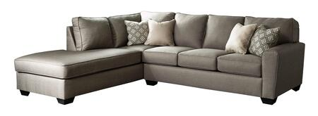 Benchcraft Calicho Collection 91202-1X-6X 2PC Sectional Sofa with X Arm Facing Chaise and X Arm Facing Sofa in Cashmere Color