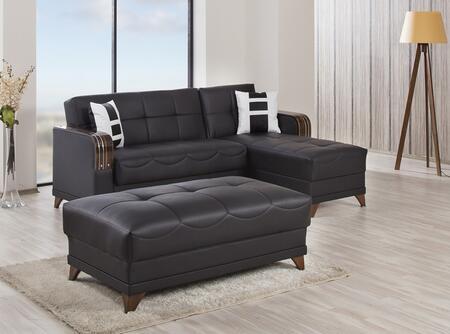 Casamode ALMSECOTTZBLK Living Room Sets