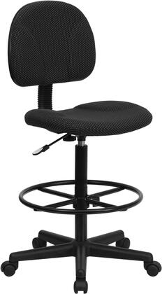 "Flash Furniture BT-659-XX-GG 26"" Patterned Fabric Ergonomic Drafting Stool with Two Seat Height Ranges with Gas Cylinder Height Extenders, Height Adjustable Foot Ring, and Heavy Duty Nylon Base"