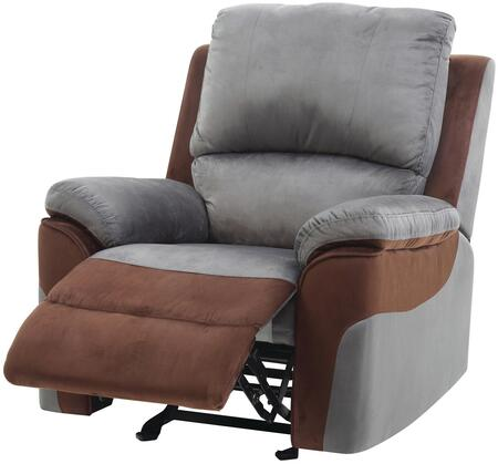 Glory Furniture G662RC G660 Series Suede Metal Frame  Recliners