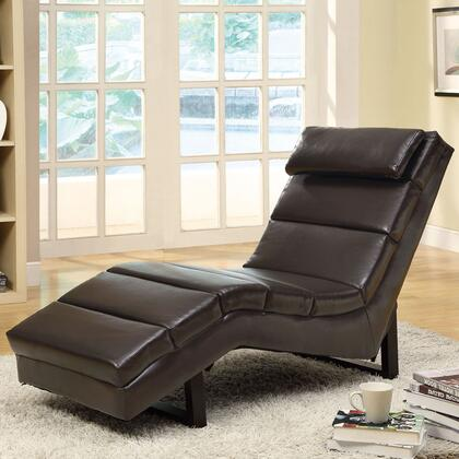 Monarch I8907 Contemporary Faux Leather Chaise Lounge