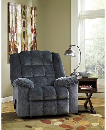 "Flash Furniture Signature Design by Ashley Ludden 40"" Rocker Recliner with Bustle Back Cushions, Push Button Recline, Infinite Reclining Positions and Twill Upholstery in"