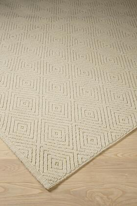 """Signature Design by Ashley Harper R40005 """" x """" Size Rug with Machine Woven Design, 4-8mm Pile Height, Wool Material and Backed with Cotton Canvas in Ivory Color"""