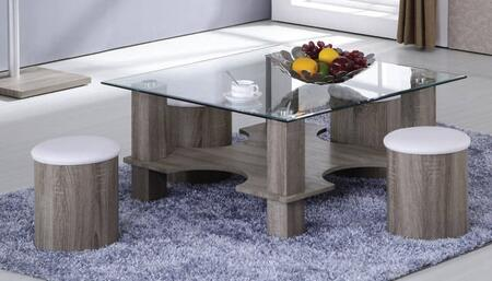 Acme Furniture 81526 Dark Grain Modern Table