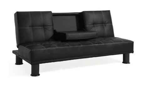 Lifestyle Solutions CCDOMS3F3DB Casual Convertibles Series Convertible Leather Sofa