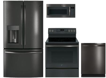 Ge 869248 4 Piece Black Stainless Steel Kitchen Liances Package