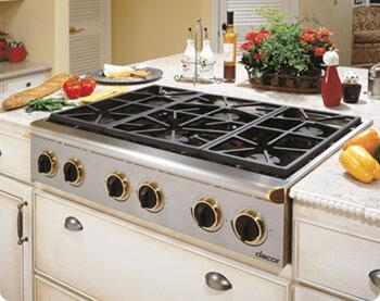 Dacor ESG366SBKLPH Renaissance Series Gas Sealed Burner Style Cooktop, in Stainless Steel/Black Trim
