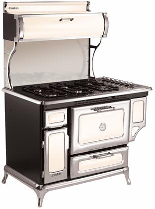 "Heartland 5210CDGIVY 48"" Classic Series Dual Fuel Freestanding Range with Sealed Burner Cooktop, 4 cu. ft. Primary Oven Capacity, Warming in Ivory"