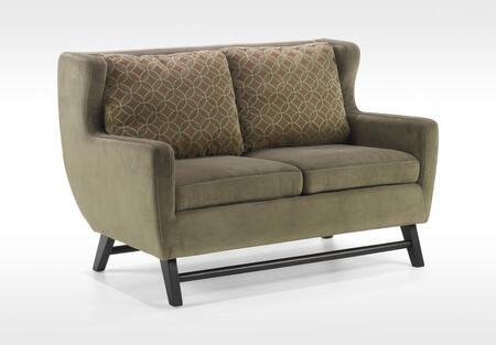 Armen Living LC10382GR Midtown Series  with Fabric Frame Loveseat