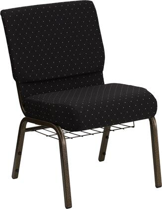 """Flash Furniture HERCULES Series FD-CH0221-4-GV-XX-BAS-GG 19"""" Extra Wide Church Chair with 4"""" Thick Seat, Communion Cup Book Rack, Gold Vein Frame, Plastic Rocker Glides, and 16 Gauge Steel Frame"""