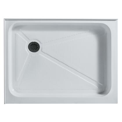 "Vigo VG06019WHT3648 36"" x 48"" Rectangular Shower Tray in White with X Drain"
