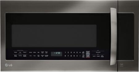 """LG LMVM2033S 30"""" Over-the-Range Microwave Oven with 2 cu. ft. Capacity, EasyClean, QuietPower Ventilation System, 400 CFM, Sensor Cook, and Auto Defrost, in"""