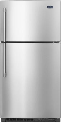 """Maytag MRT711SMF 33"""" Top Freezer Refrigerator with 21.24 cu. ft. Capacity, EvenAir Cooling Tower, PowerCold, BrightSeries LED Lighting, and Ice Maker"""