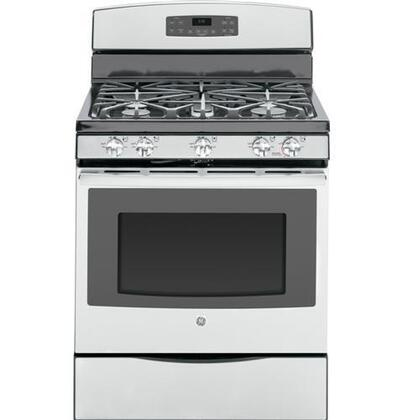 "GE JGB650SEFSS 30"" Gas Freestanding Range with Sealed Burner Cooktop, 5.0 cu. ft. Primary Oven Capacity, Storage in Stainless Steel"