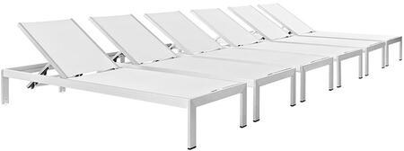 "Modway EEI2474SLVWHISET 76"" Lounge Chair"