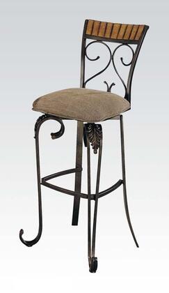 Acme Furniture 07726 Venetian Series Residential Microfiber Upholstered Bar Stool