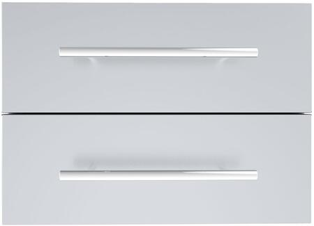 Sunstone DE Designer Series Multi-Configurable Double Drawer with Self-Leveling Legs in Stainless Steel