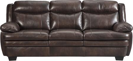 Signature Design by Ashley 1530438 Hannalore Series Stationary Leather Sofa