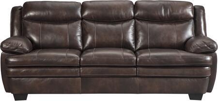 Milo Italia MI448531CAFE Bailee Series Stationary Leather Sofa